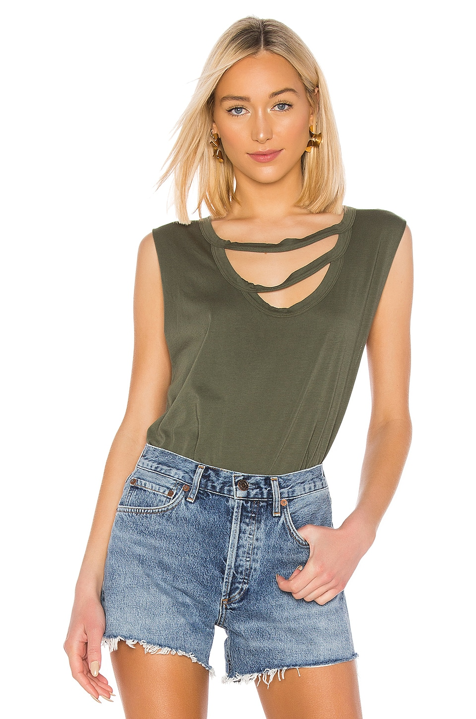 LA Made Nolan Tank in Palm Frond