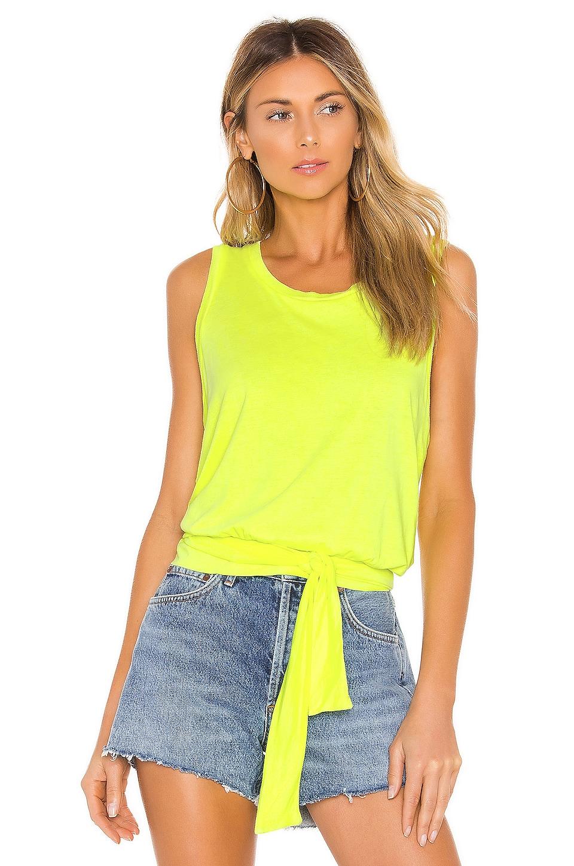 LA Made Desilusion Top in Neon Yellow