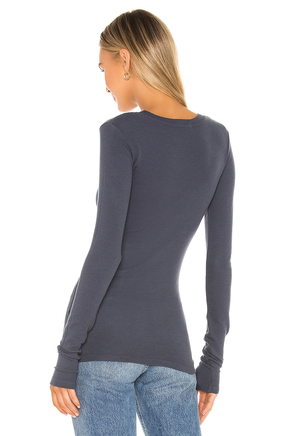 Long Sleeve Thermal Tee, view 3, click to view large image.