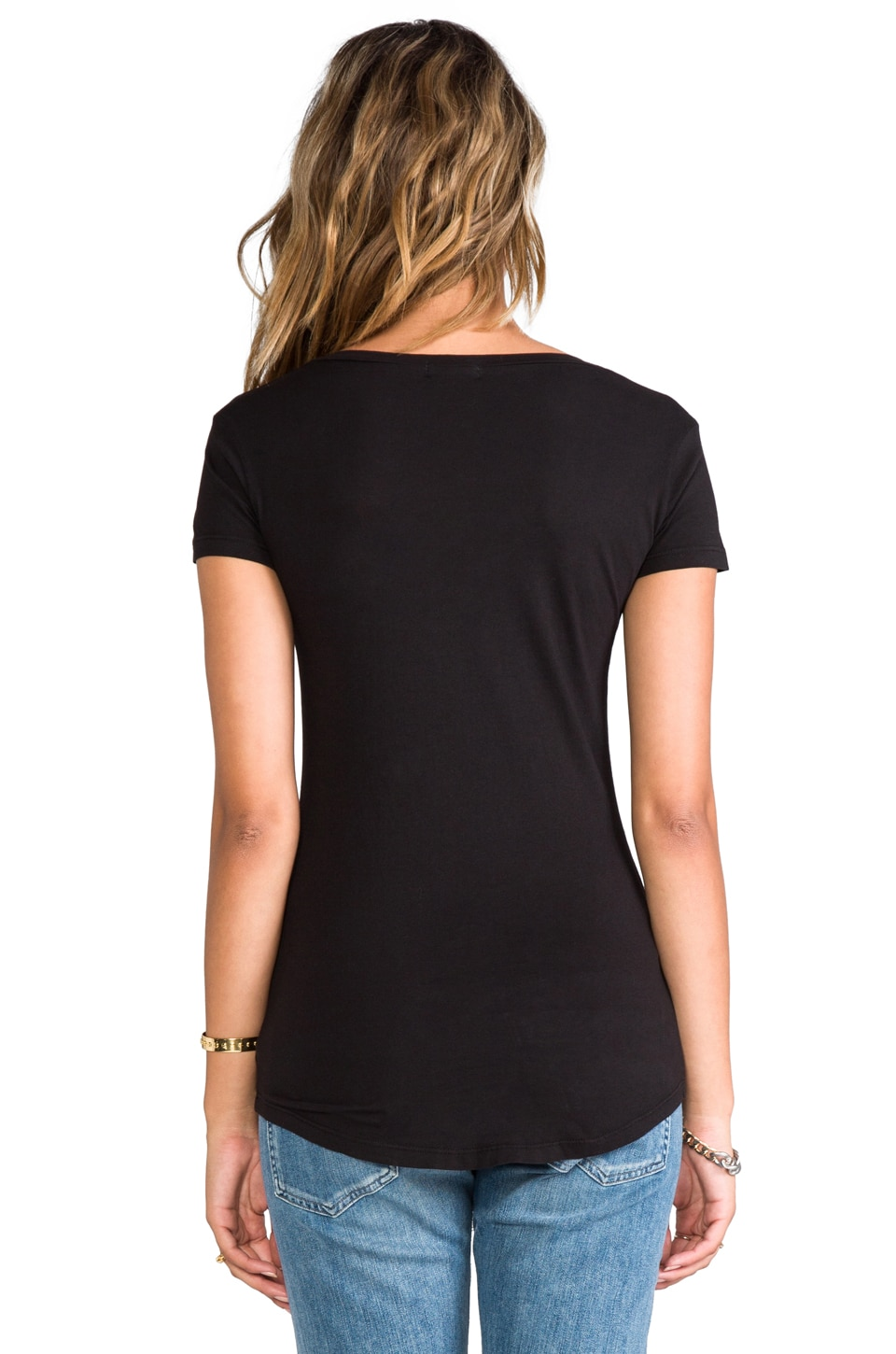 LA Made V Pocket Tee in Black