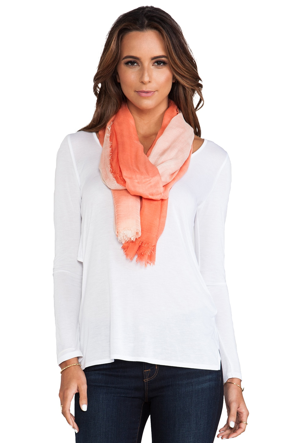 LA Made Ombre Scarf in Mojave & White