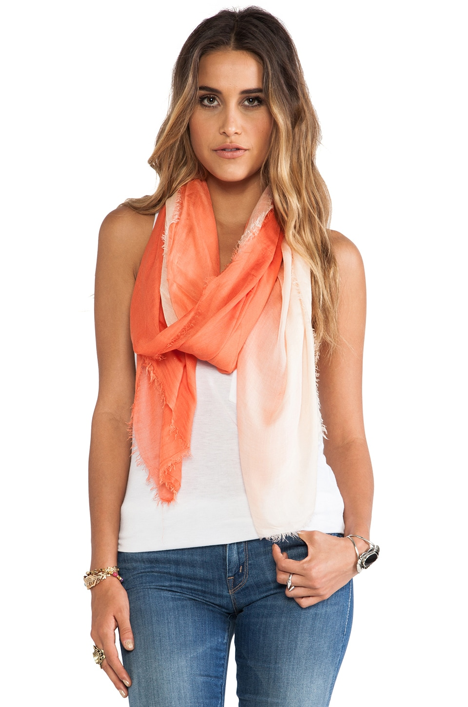 LA Made Ombre Scarf in Mojave/White