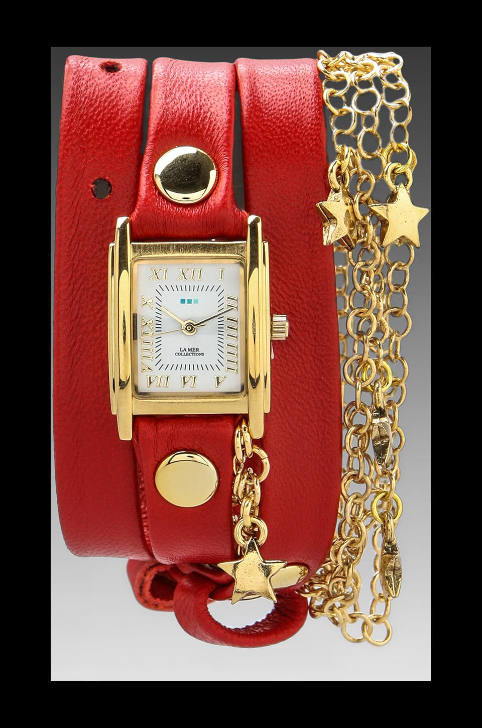 La Mer EXCLUSIVE Stars Charm Wrap in Red/Gold