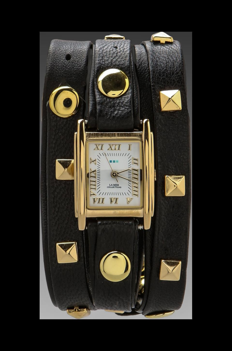 La Mer Pyramid Watch in Black/Gold
