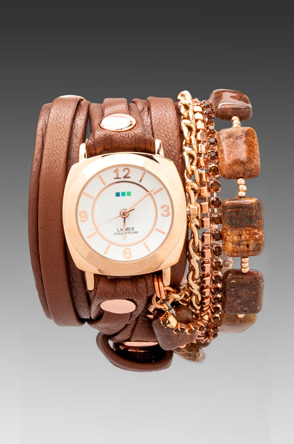 La Mer Red Fossil Coral in Cognac