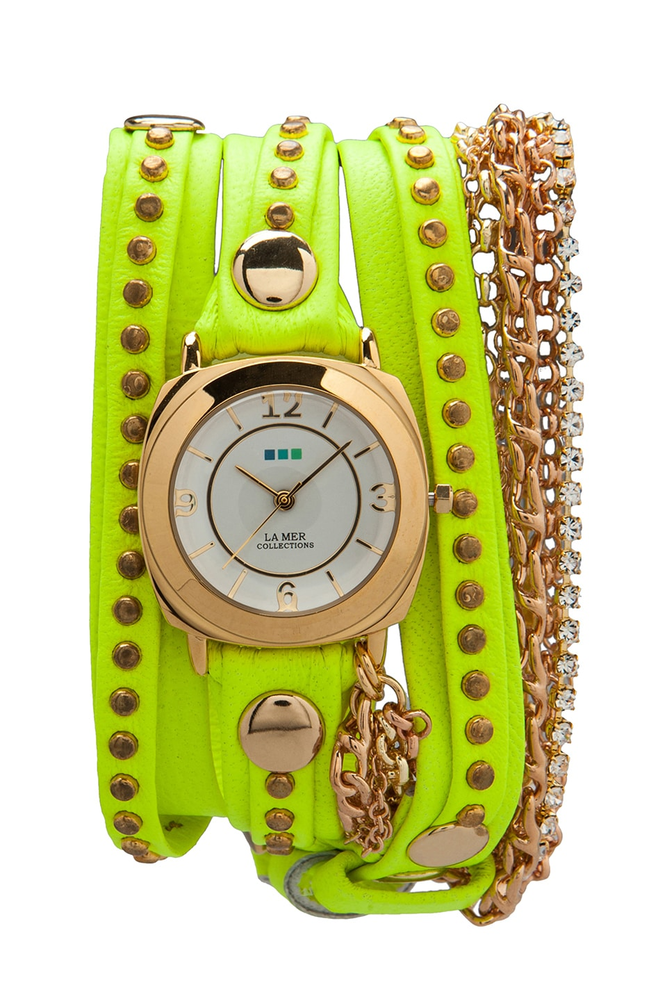 La Mer EXCLUSIVE Odyssey Chain Wrap in Neon Yellow Bali/Gold