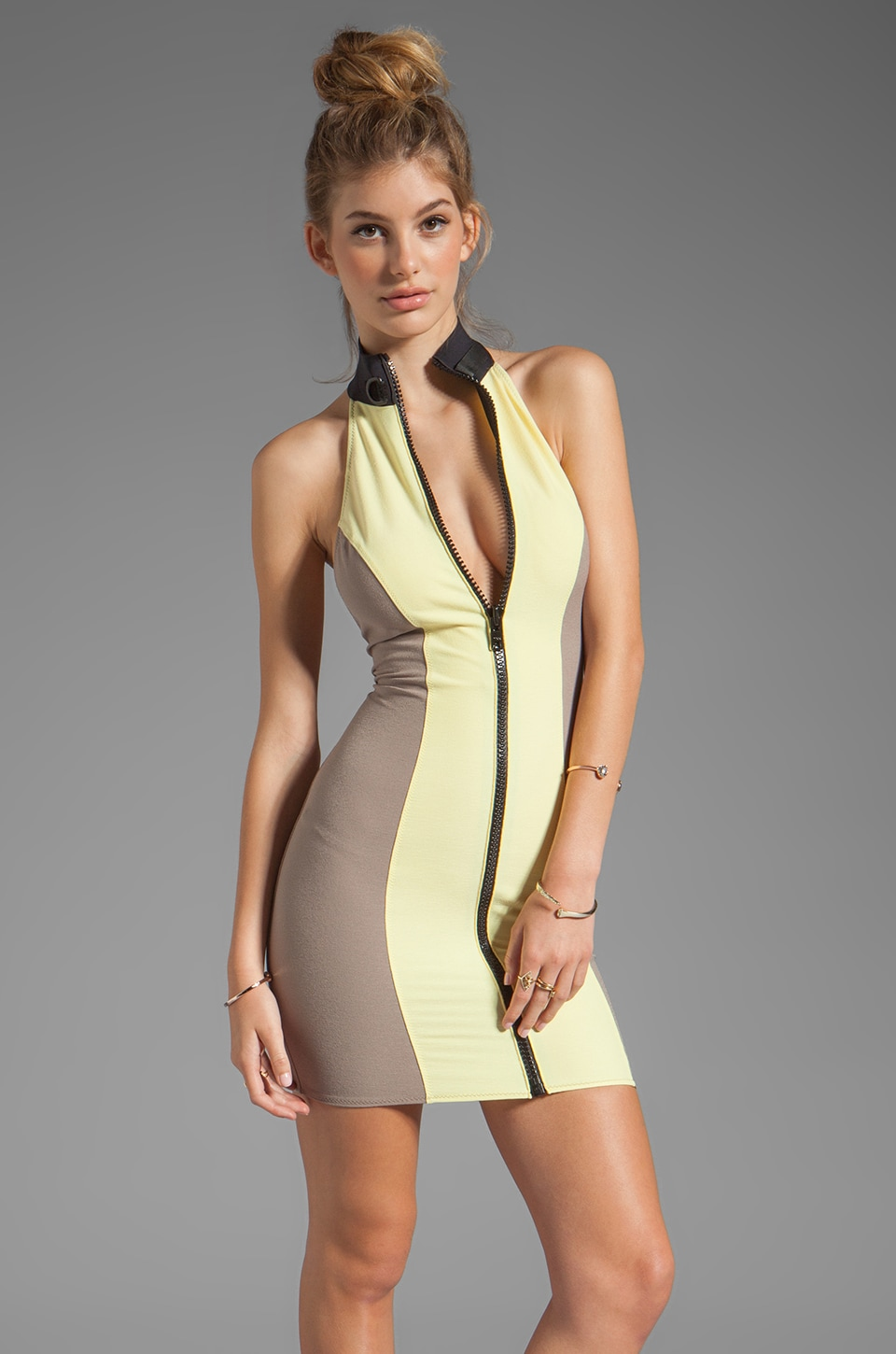 Lisa Marie Fernandez Lisa Marie Dress in Yellow/Taupe Vintage