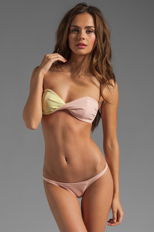 Lisa Marie Fernandez Alexia Bikini in Yellow/Pink Vintage