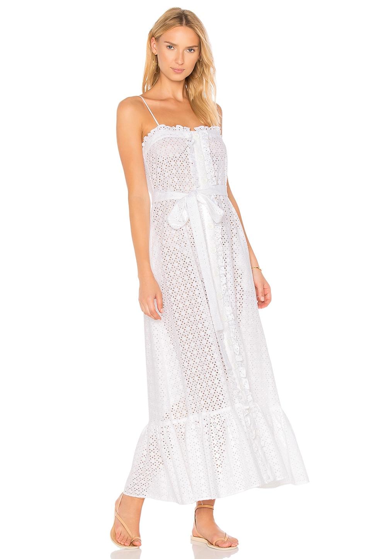 Button Down Ruffle Slip Dress by Lisa Marie Fernandez