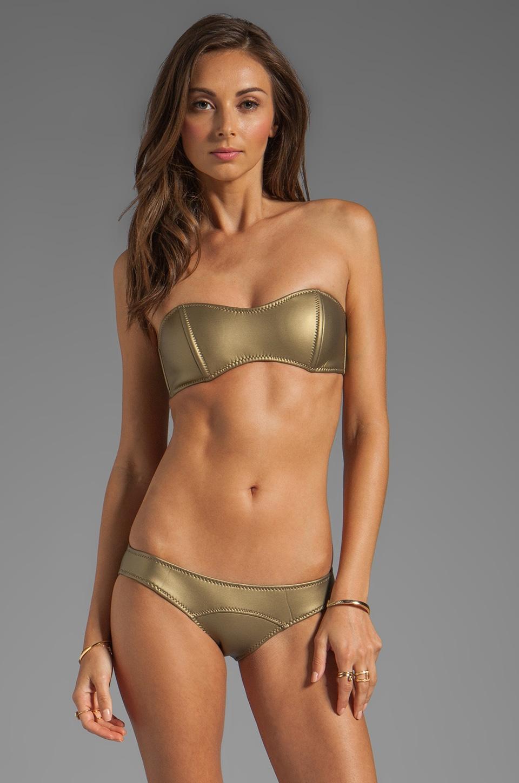 Lisa Marie Fernandez Natalie Bikini in Gold Rubber Neo