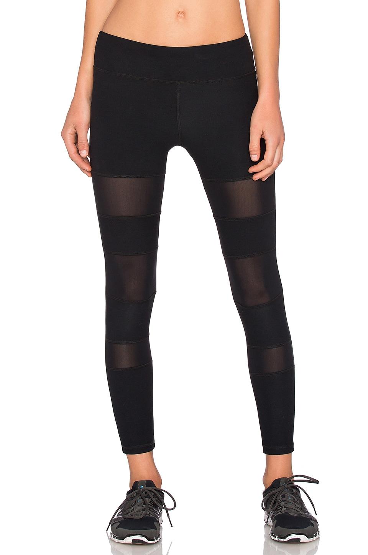 Lanston Sport Mesh Bar Legging in Black