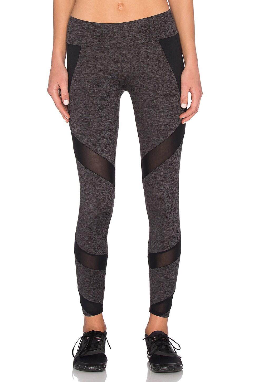 Lanston Sport Mesh & Color Block Legging in Grey