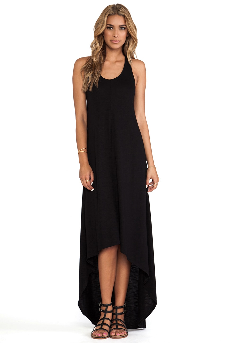 Lanston Hi Lo Racerback Dress in Black