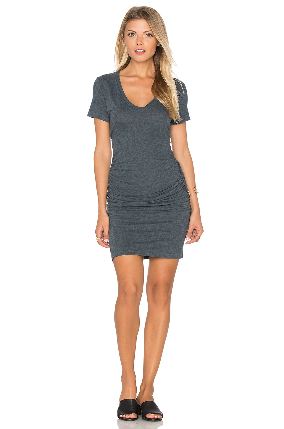 Lanston Ruched T Shirt Dress In Pacific Revolve