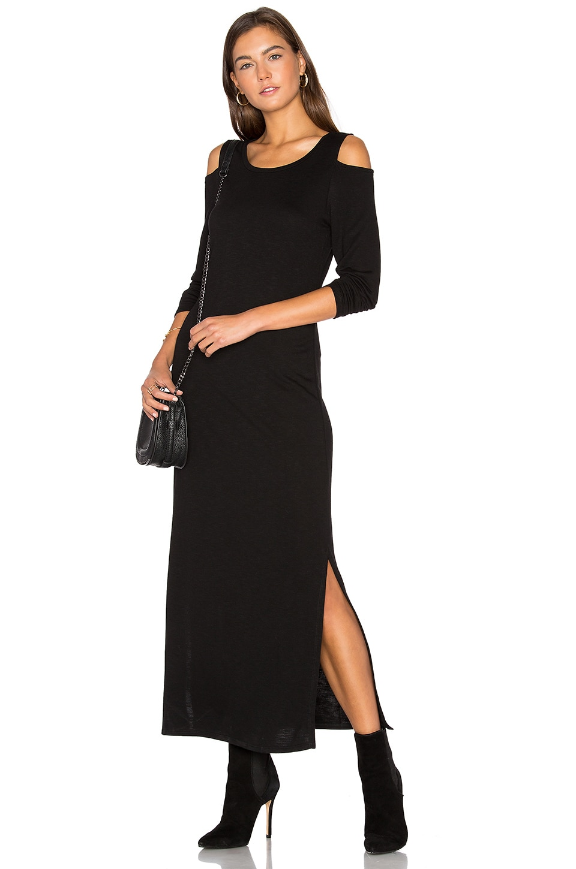 Cutout Shoulder Ankle Dress by Lanston
