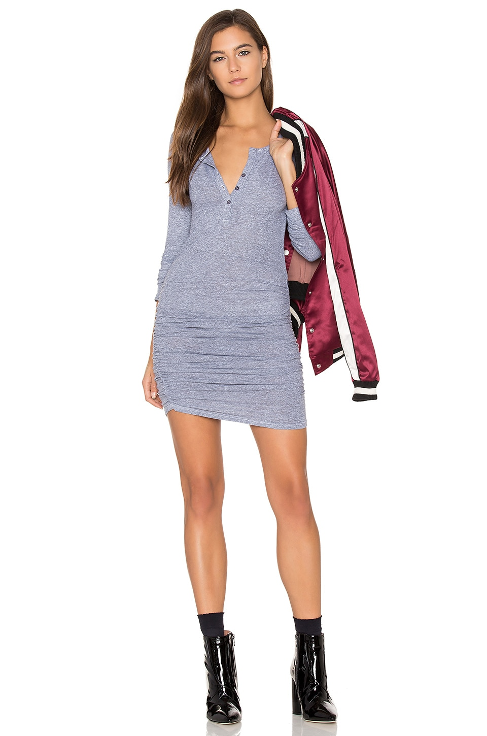 Buy Ruched Henley Dress by Lanston