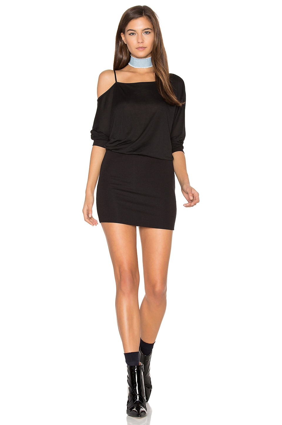 Off the Shoulder Mini Dress by Lanston