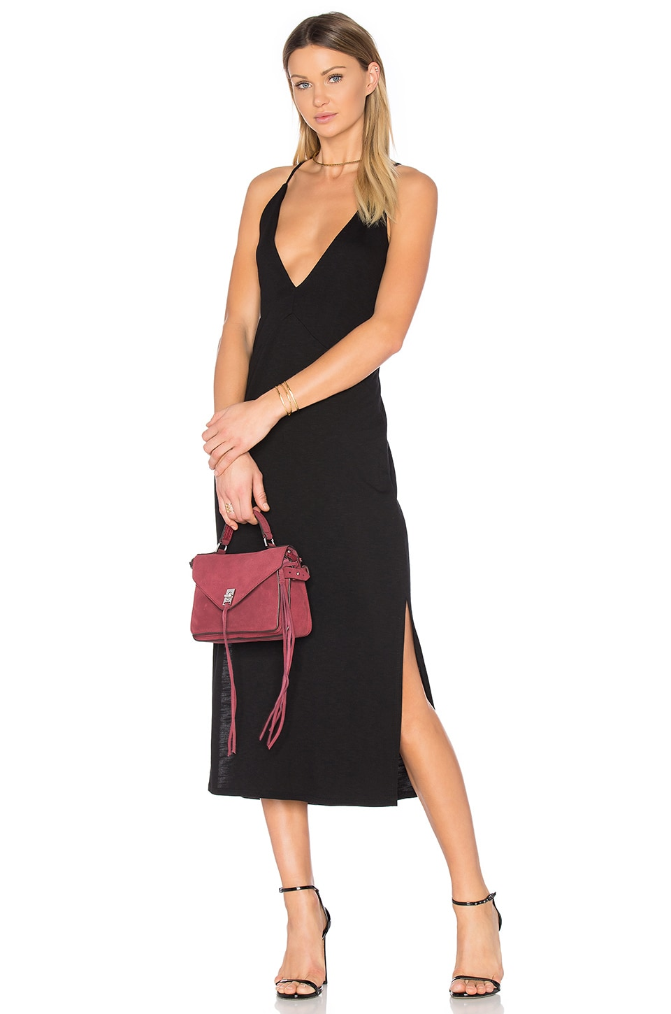 Slit Cami Midi Dress by Lanston