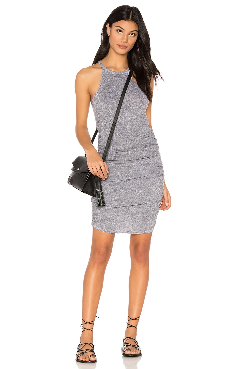 Ruched Halter Dress by Lanston