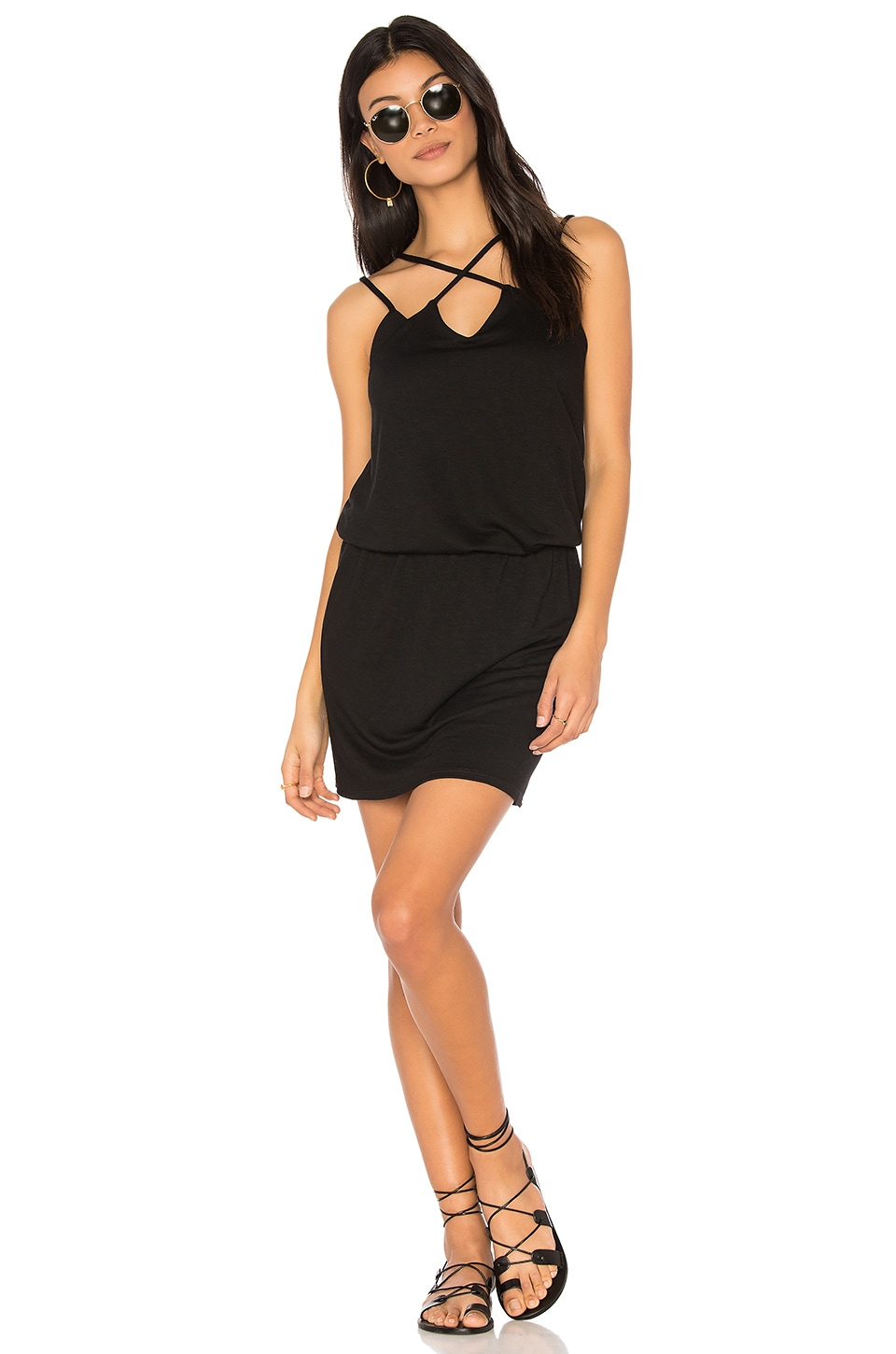 Cross Front Dress by Lanston