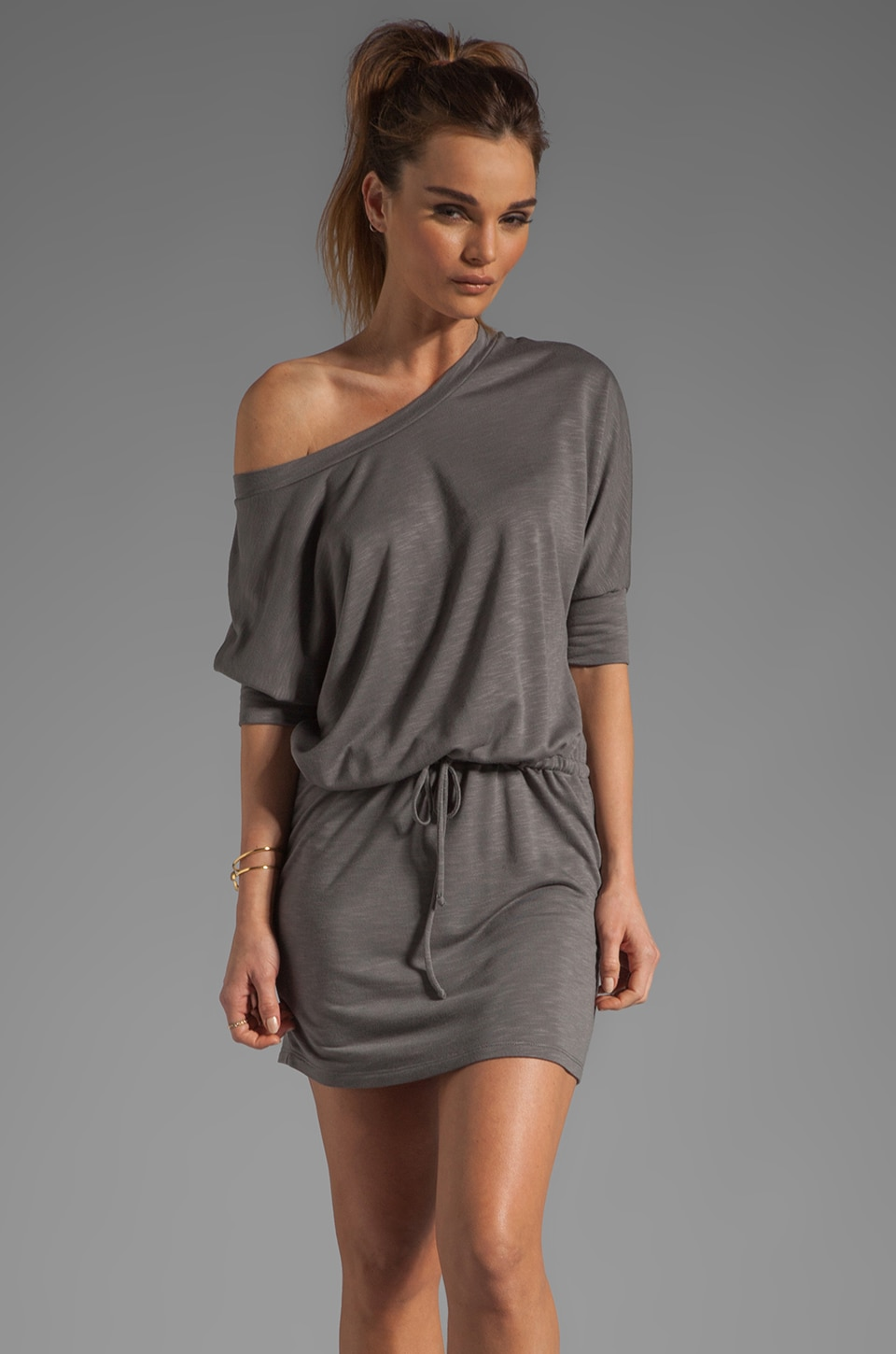 Lanston Boyfriend Mini Dress in Teak