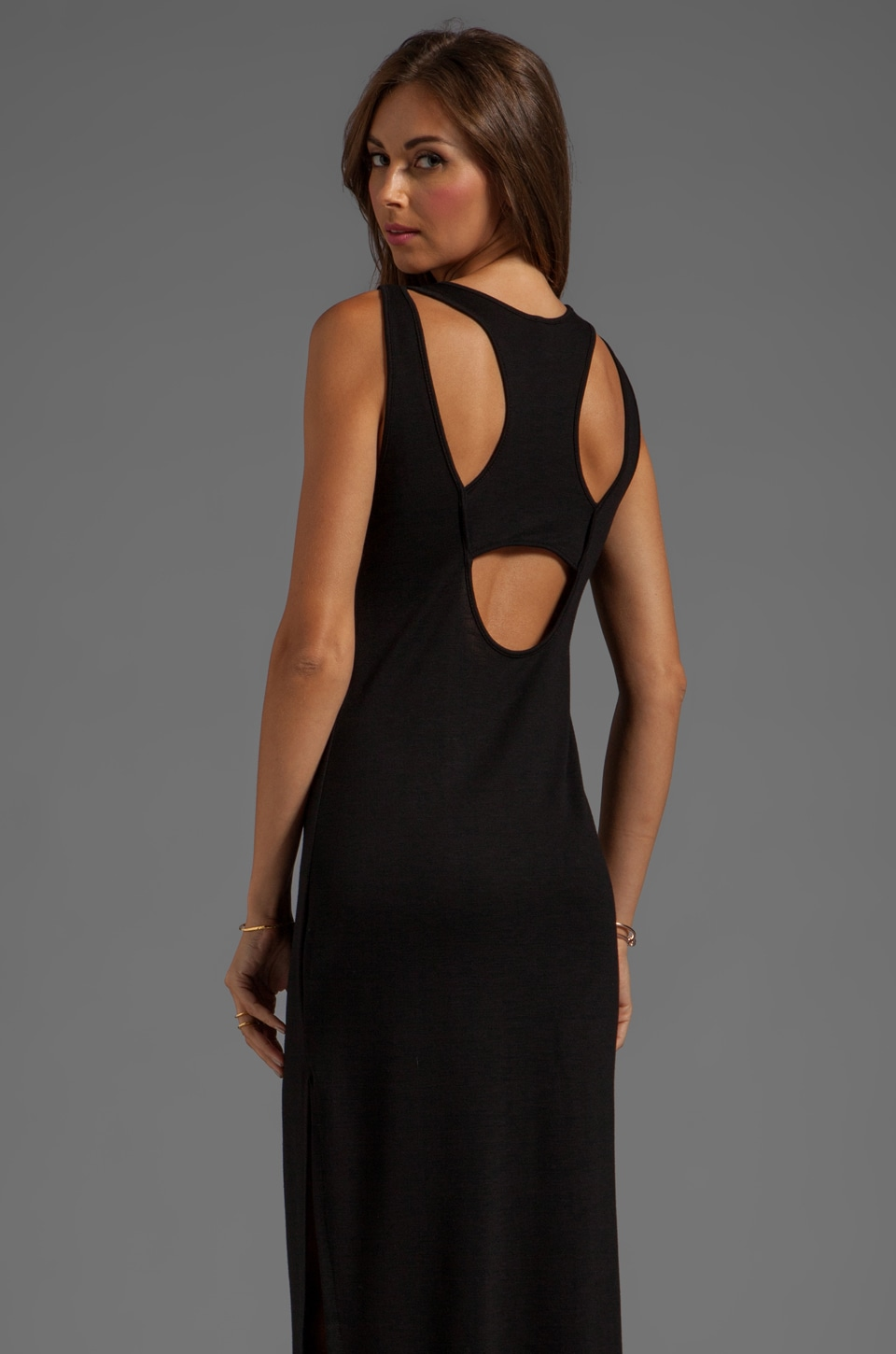 Lanston Cutout Racerback Dress in Black