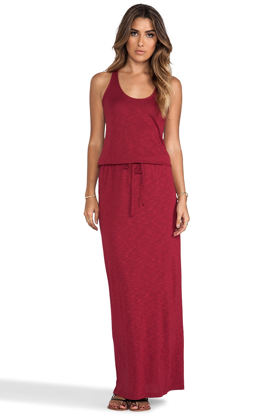 Lanston Racerback Maxi Dress in Port