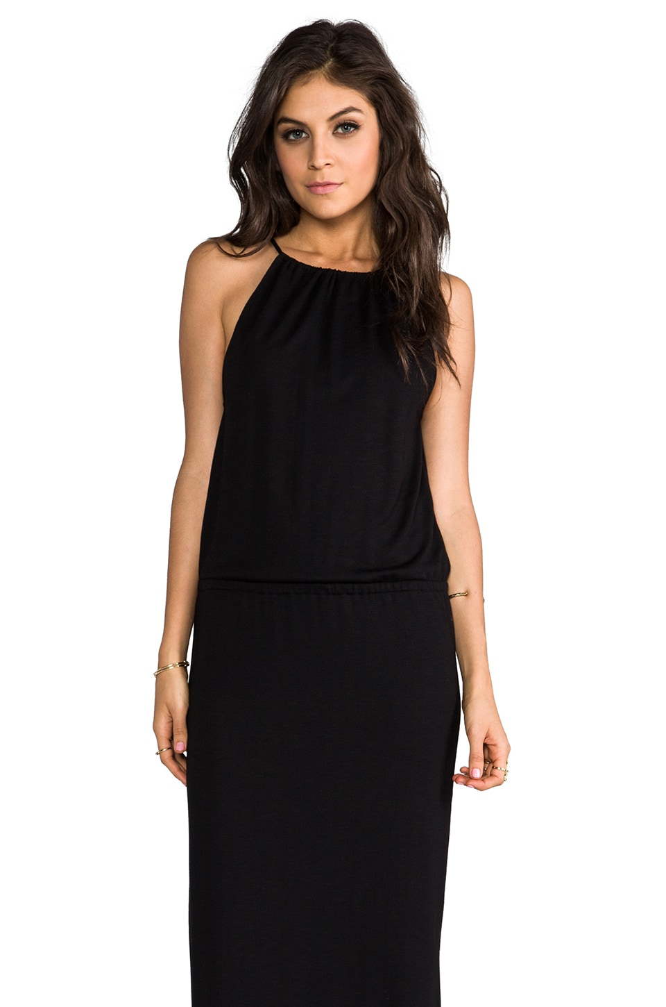 Lanston Halter Maxi in Black