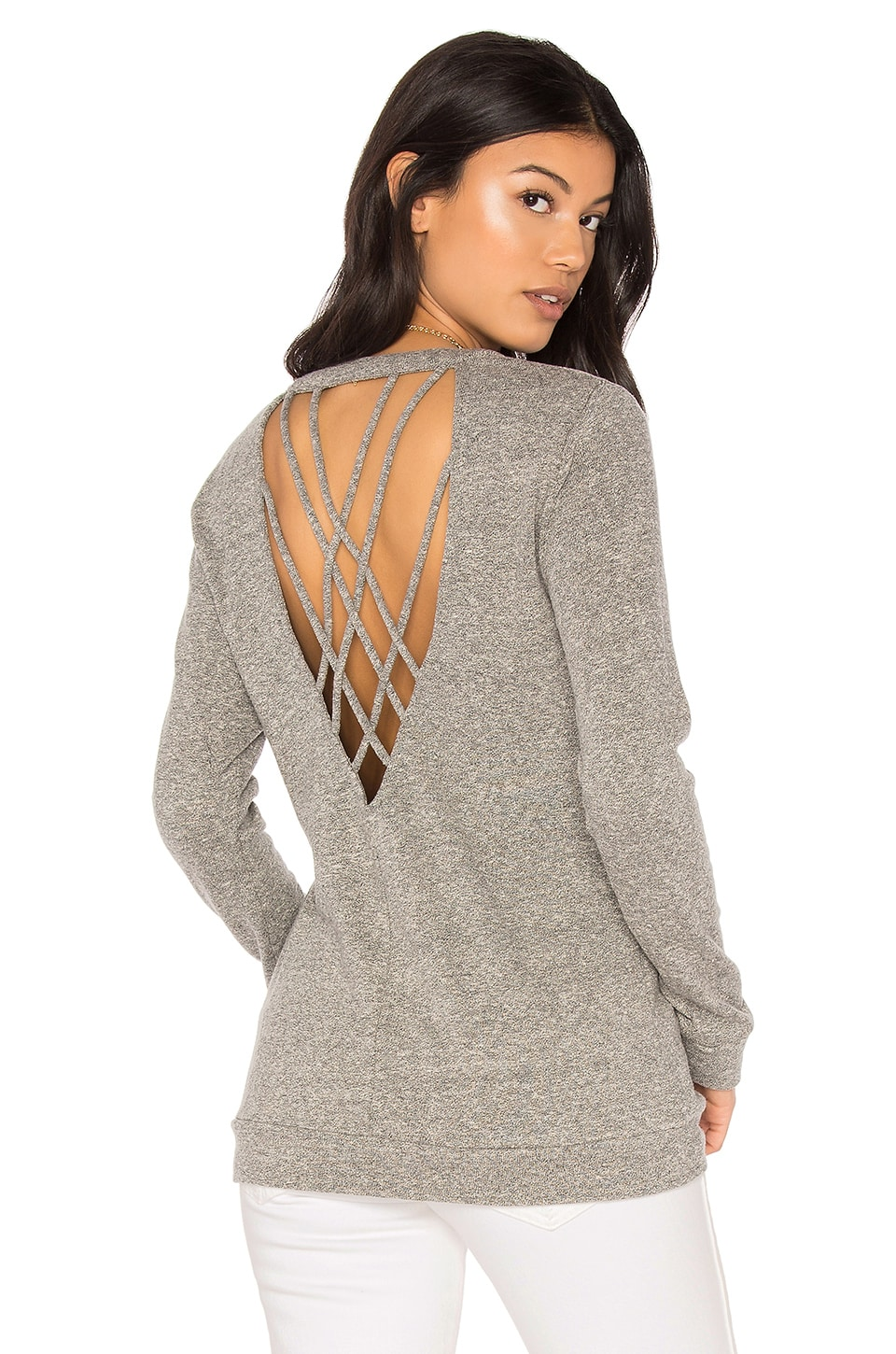 Lanston Strappy Back Pullover in Heather