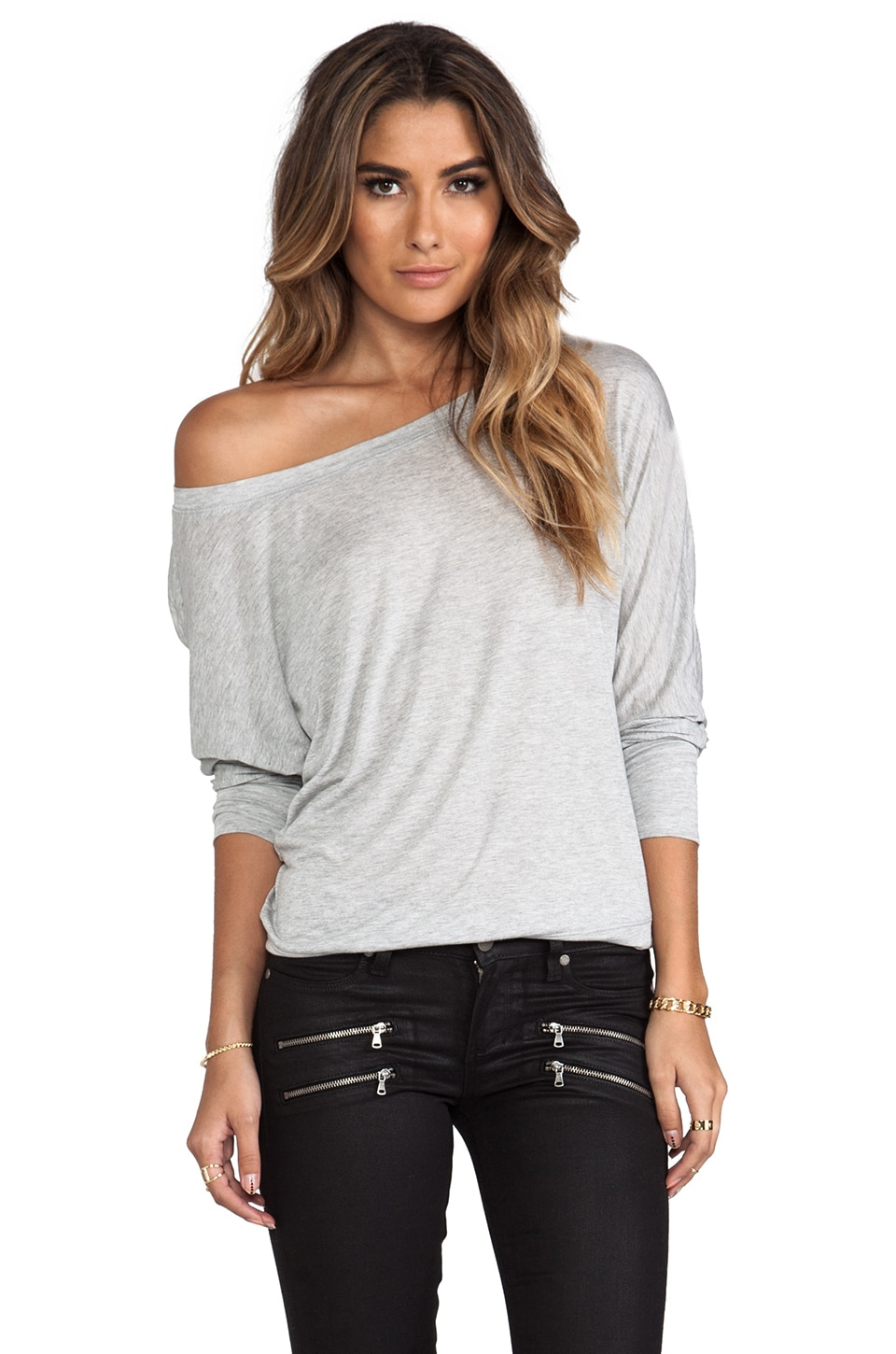 Lanston Boyfriend Sweatshirt in Heather Grey