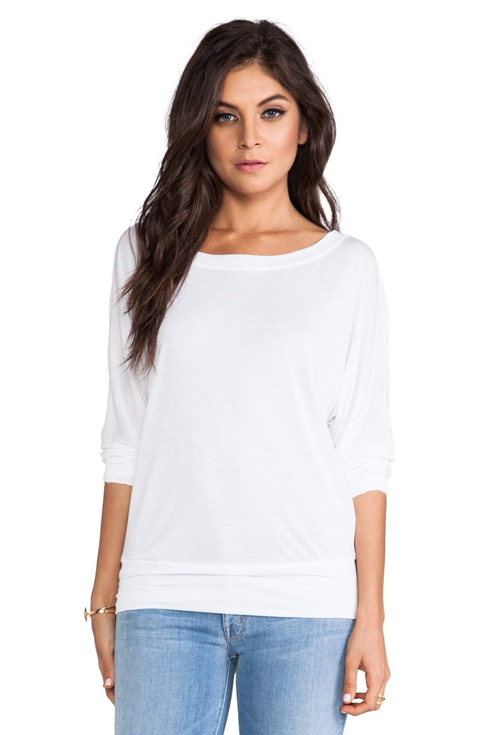 Lanston Boyfriend Sweatshirt in White