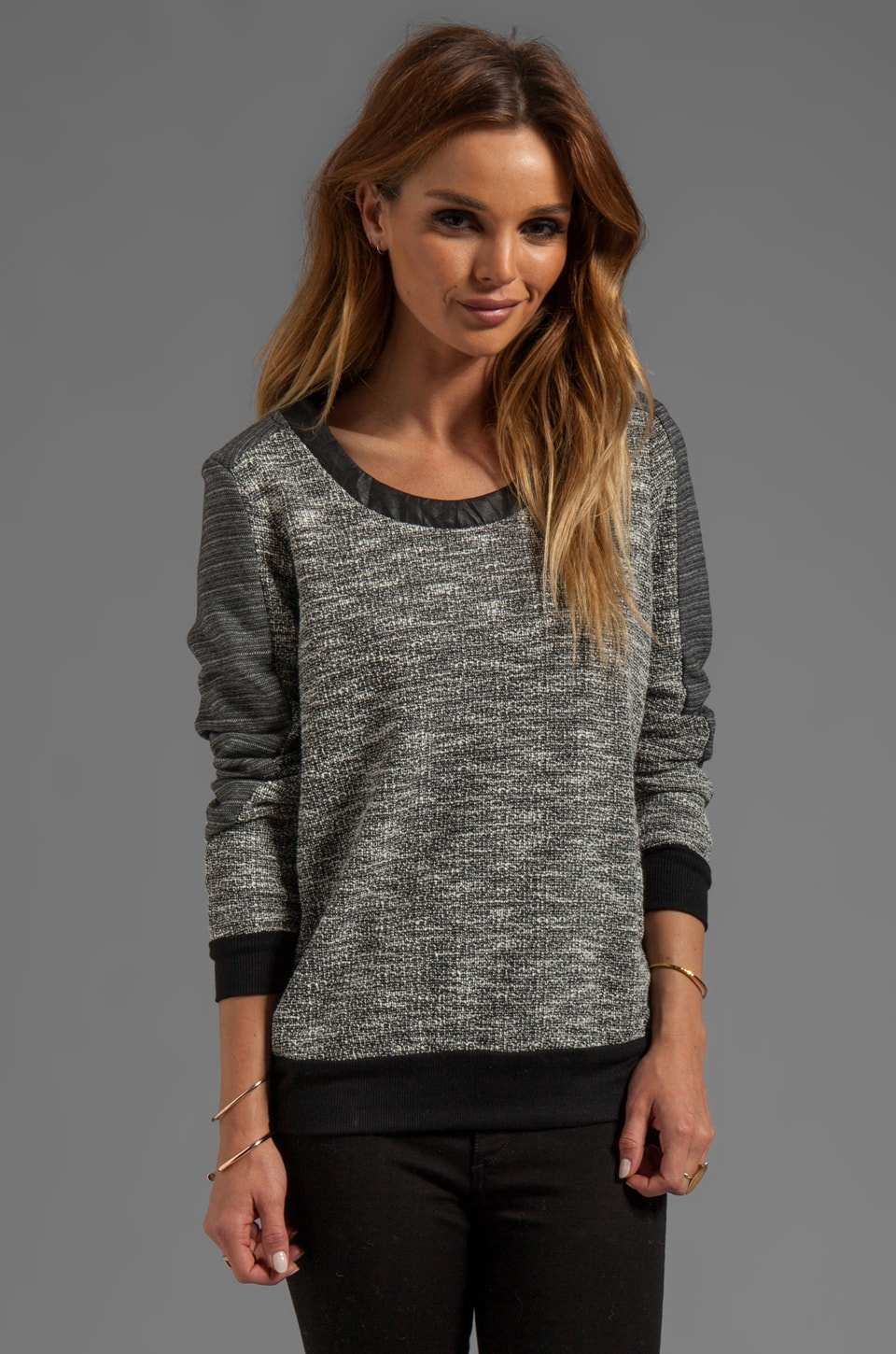 Lanston Tweed Pullover in Pepper