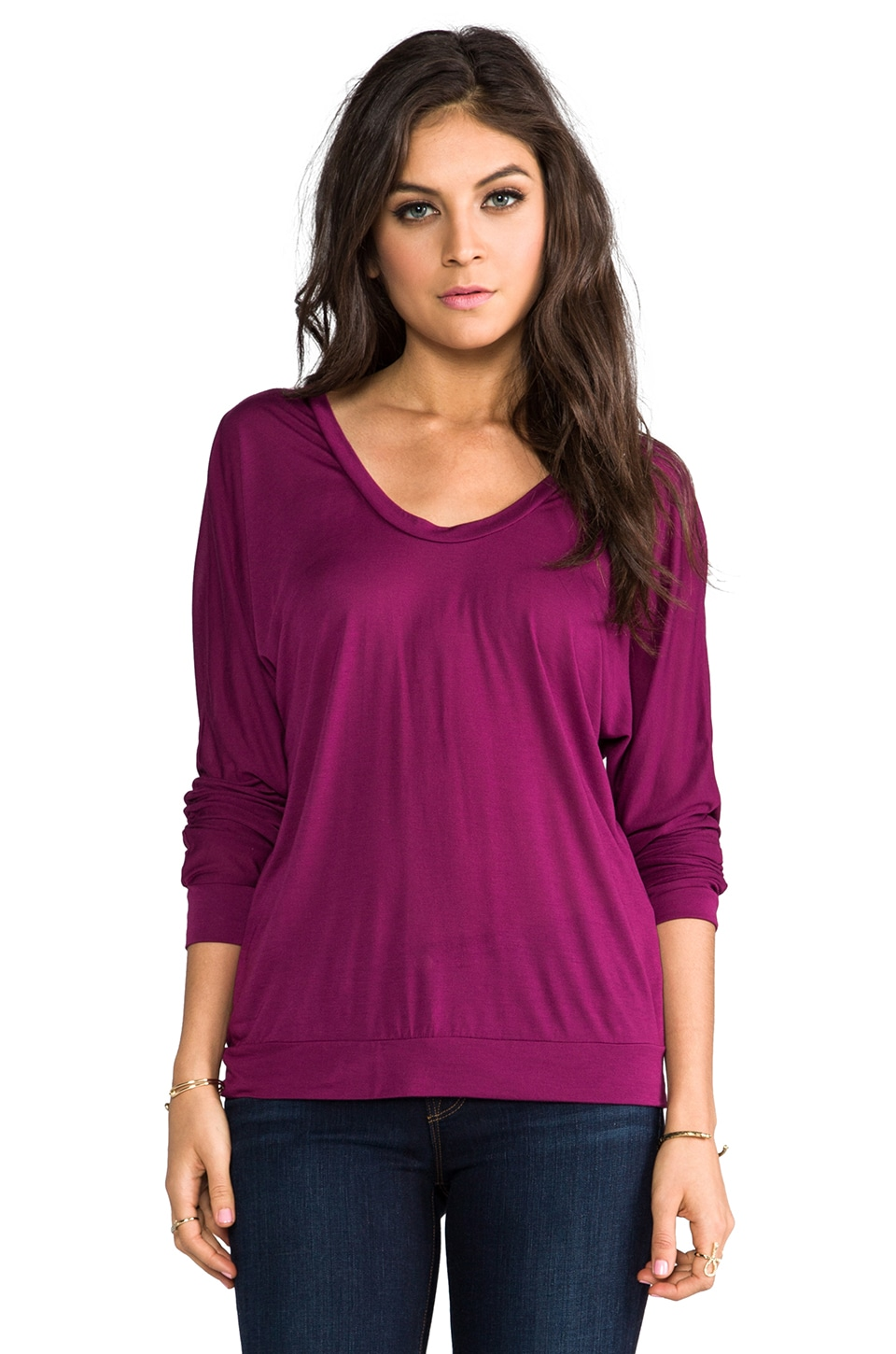 Lanston Crossback Pullover in Berry