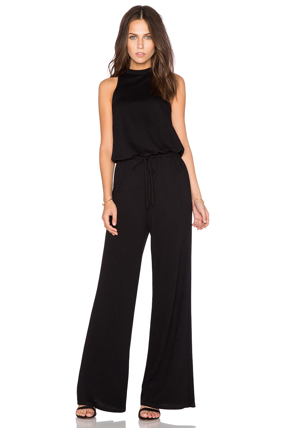 Lanston Turtleneck Jumpsuit in Black