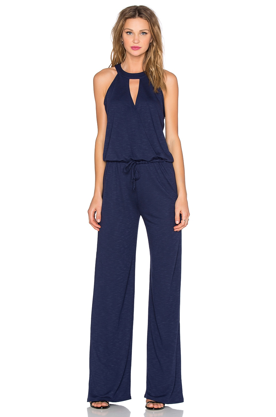 Lanston Surplice Jumpsuit in Ink