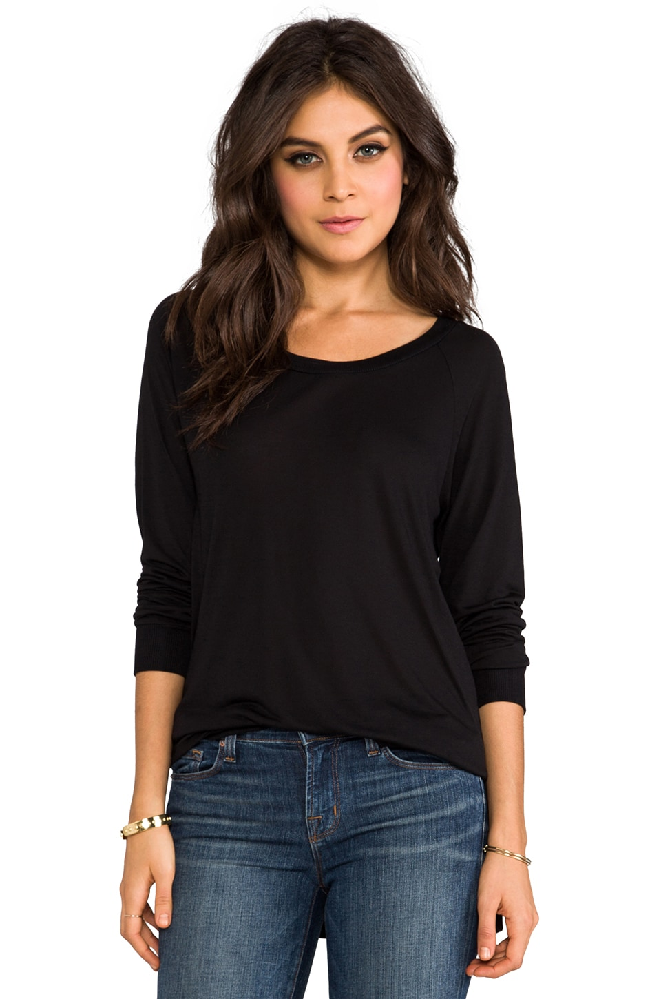 Lanston Long Sleeve Pullover in Black