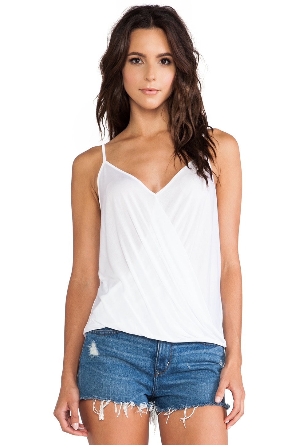 Lanston Surplice Cami in White