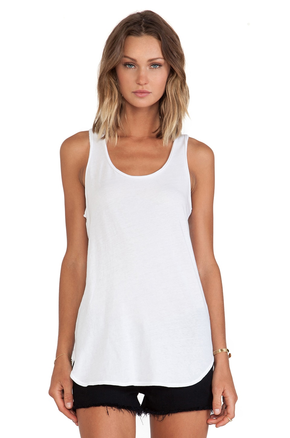 Lanston Oversized Racerback Tunic in White