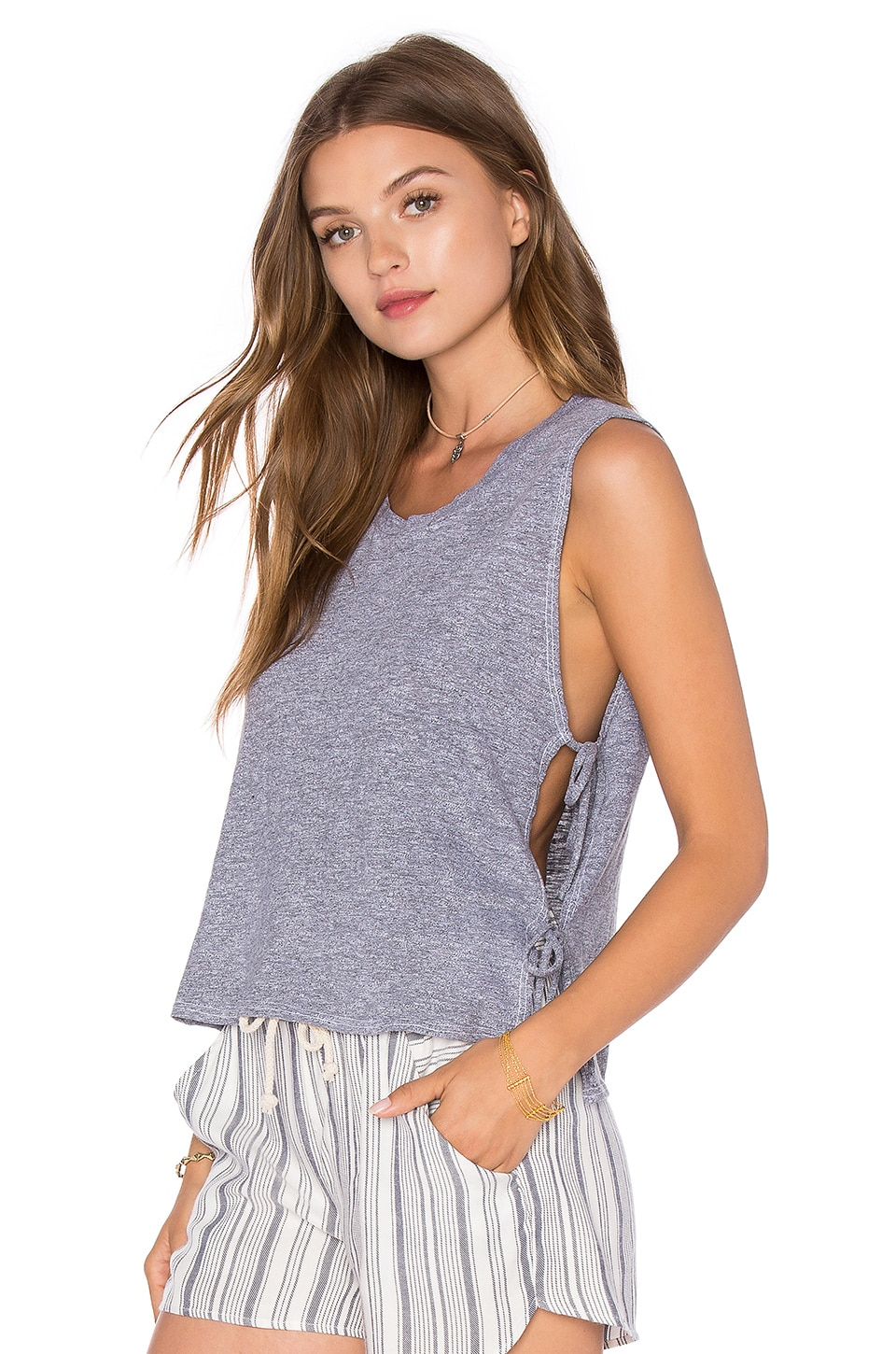 Side Tie Crop Tank at Revolve Clothing