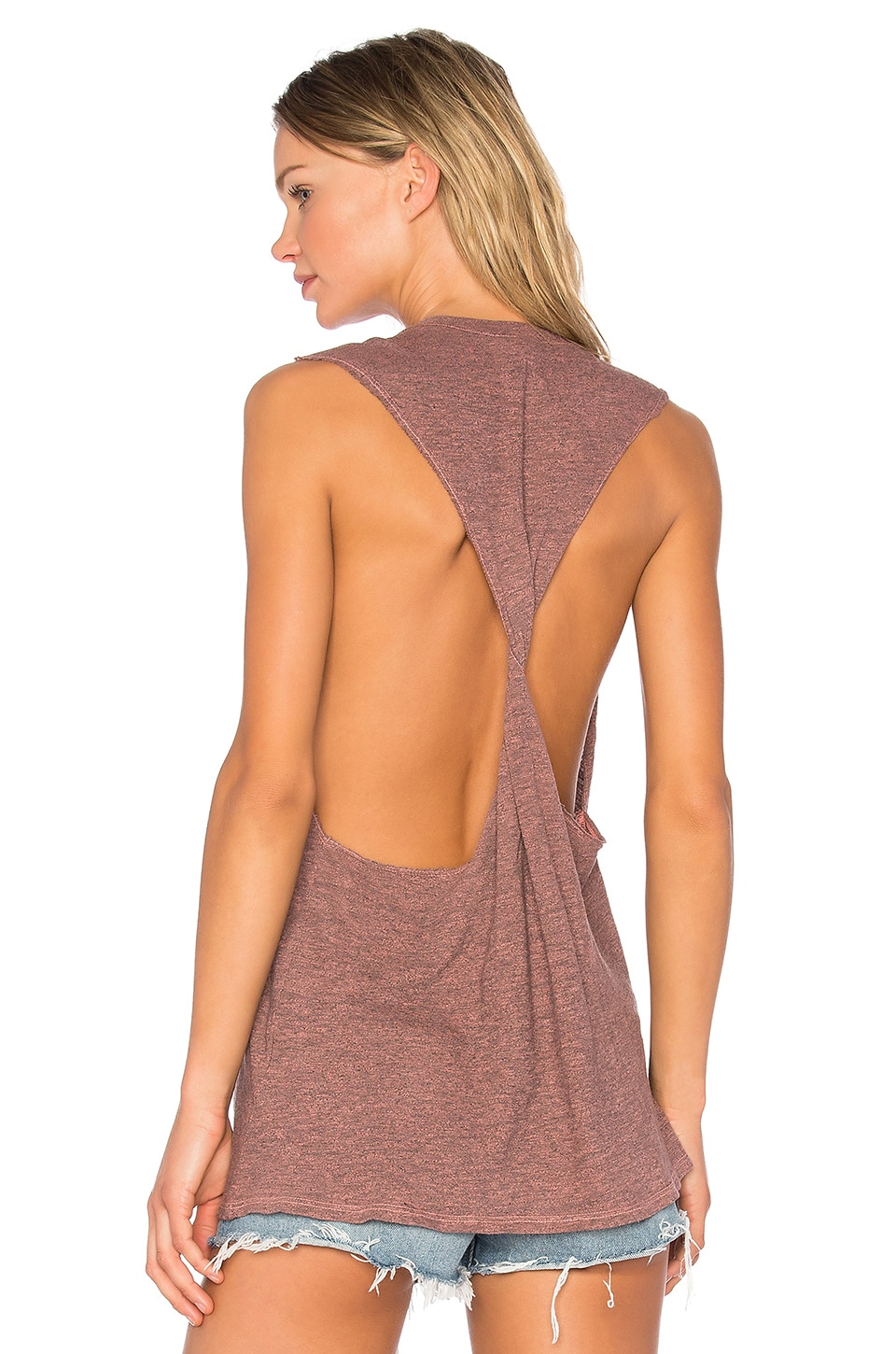 Twist Back Muscle Tank by Lanston
