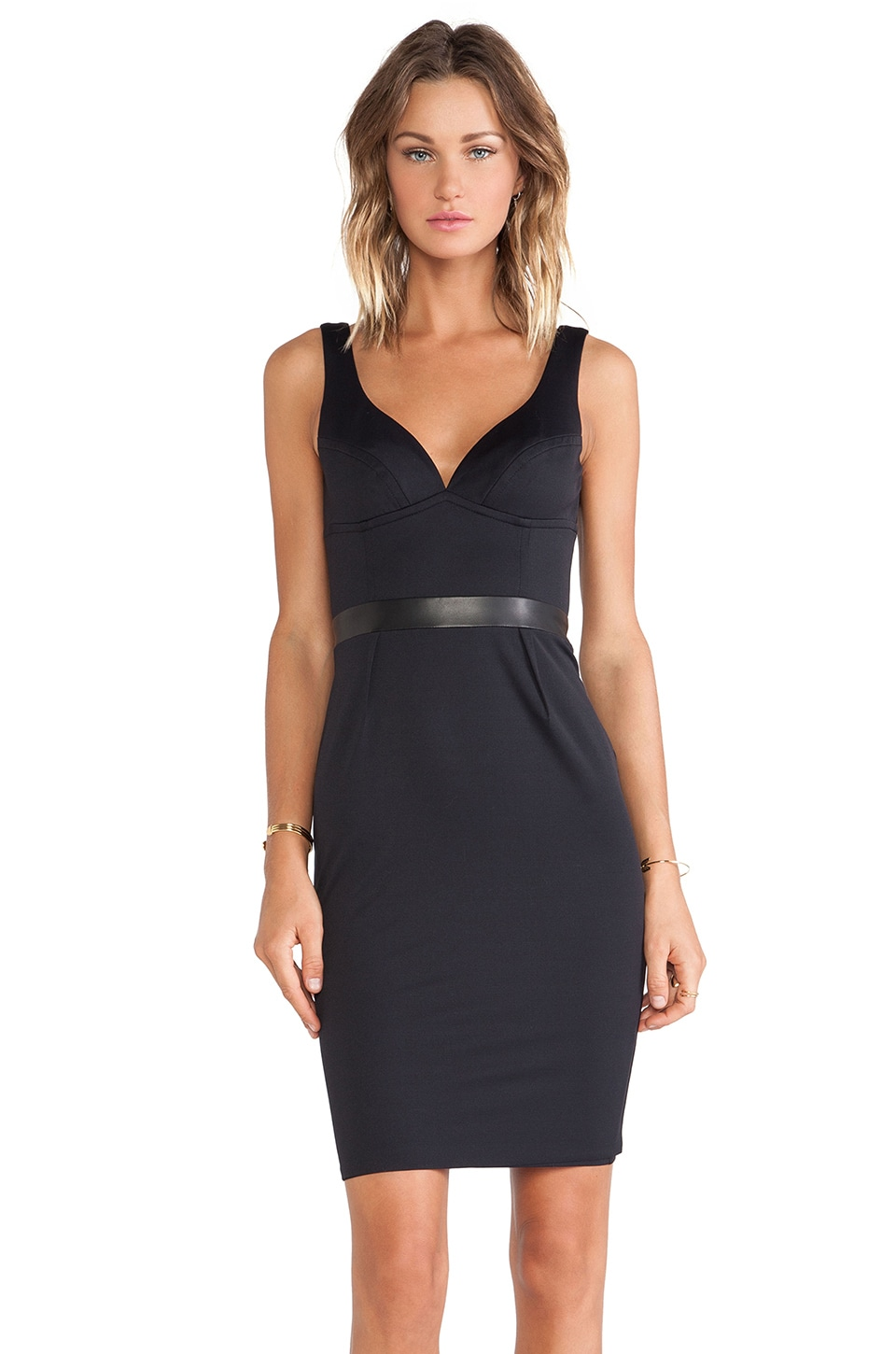 LaPina by David Helwani LaPina Stephanie Dress in Black