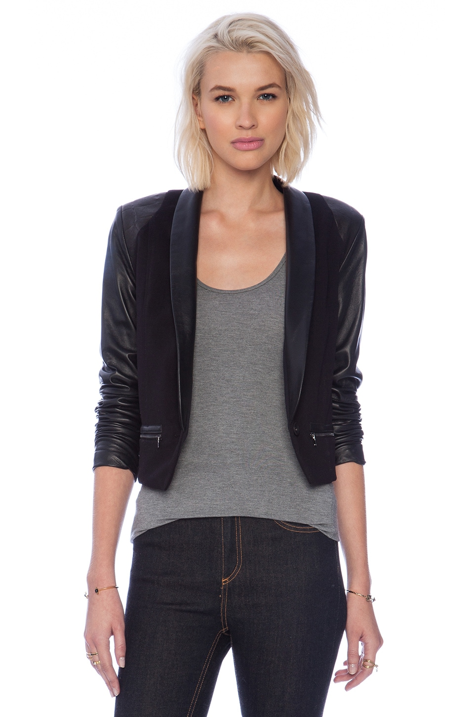 LaPina by David Helwani LaPina Tracy Jacket in Black