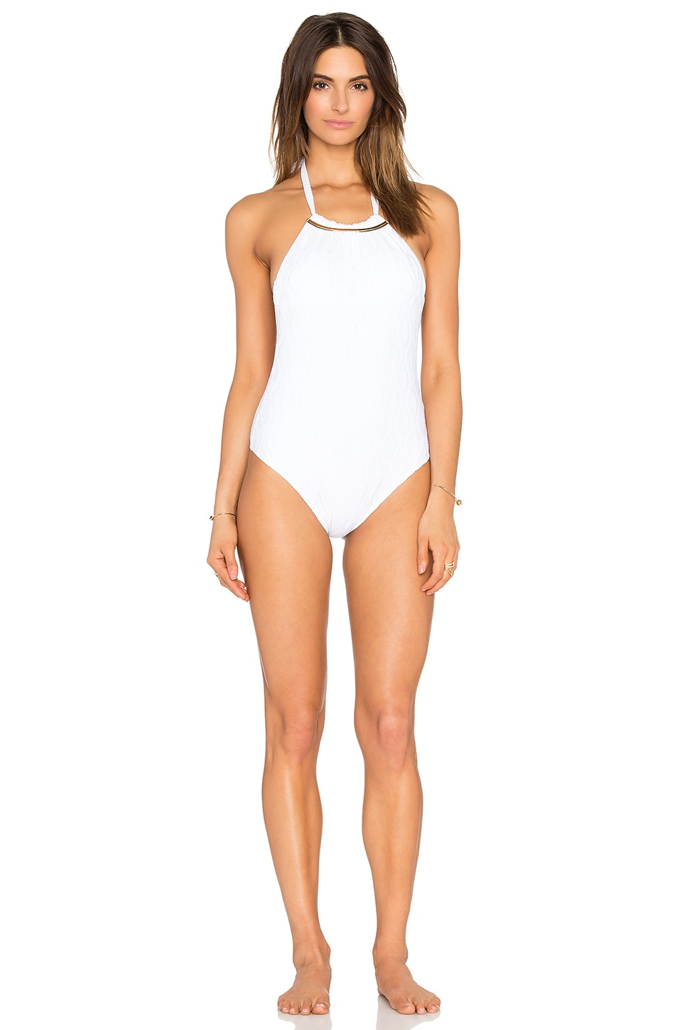 Larissa Minatto Renda Swimsuit in White