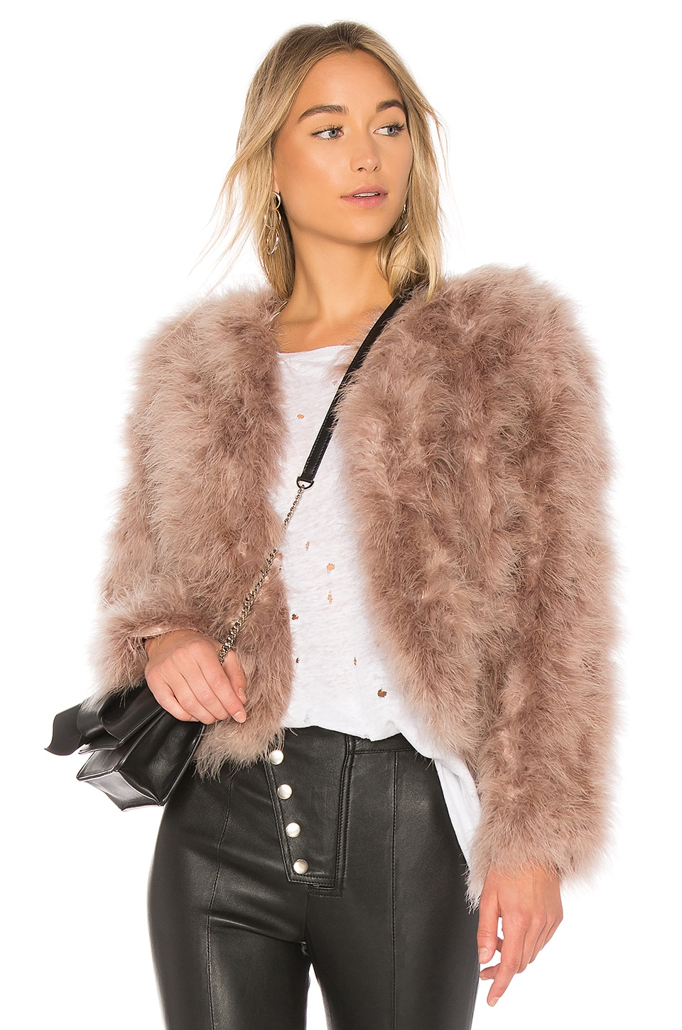 LAMARQUE Deora Coat in Rose Dust