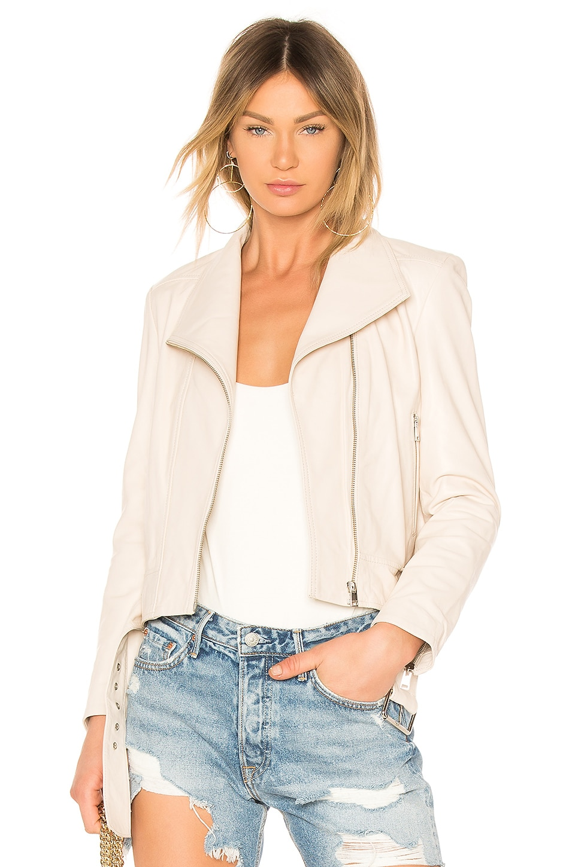 LAMARQUE Ella Leather Jacket in Gardenia
