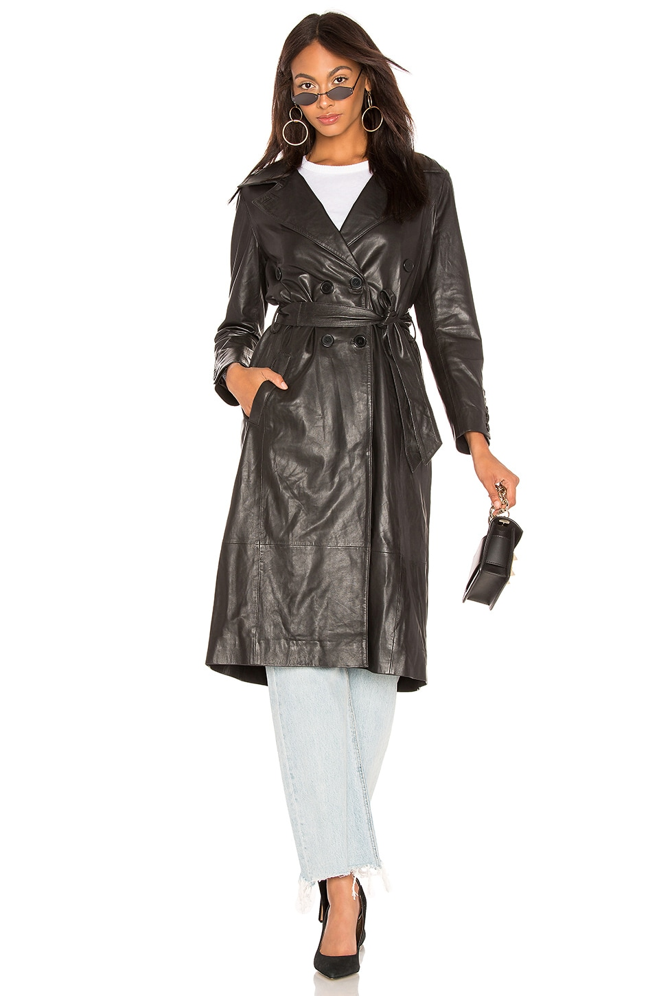 LAMARQUE Erma Trench in Black