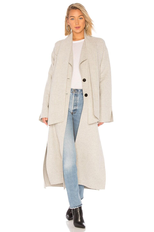 LAMARQUE Cordelia Duster Coat in Light Grey
