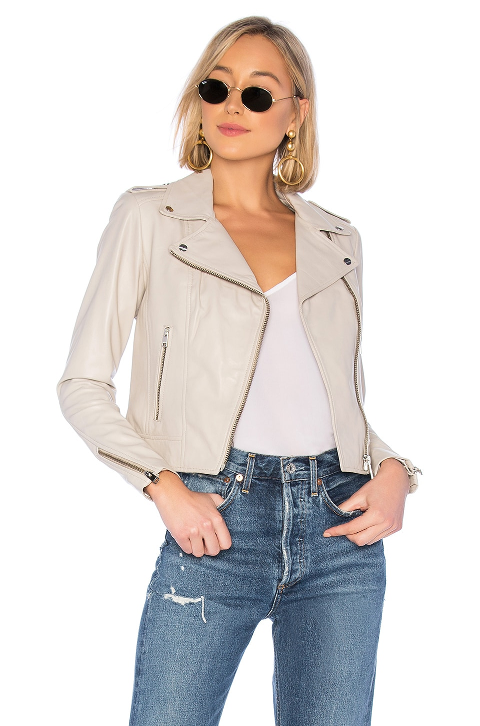 LAMARQUE Donna Leather Jacket in Shell