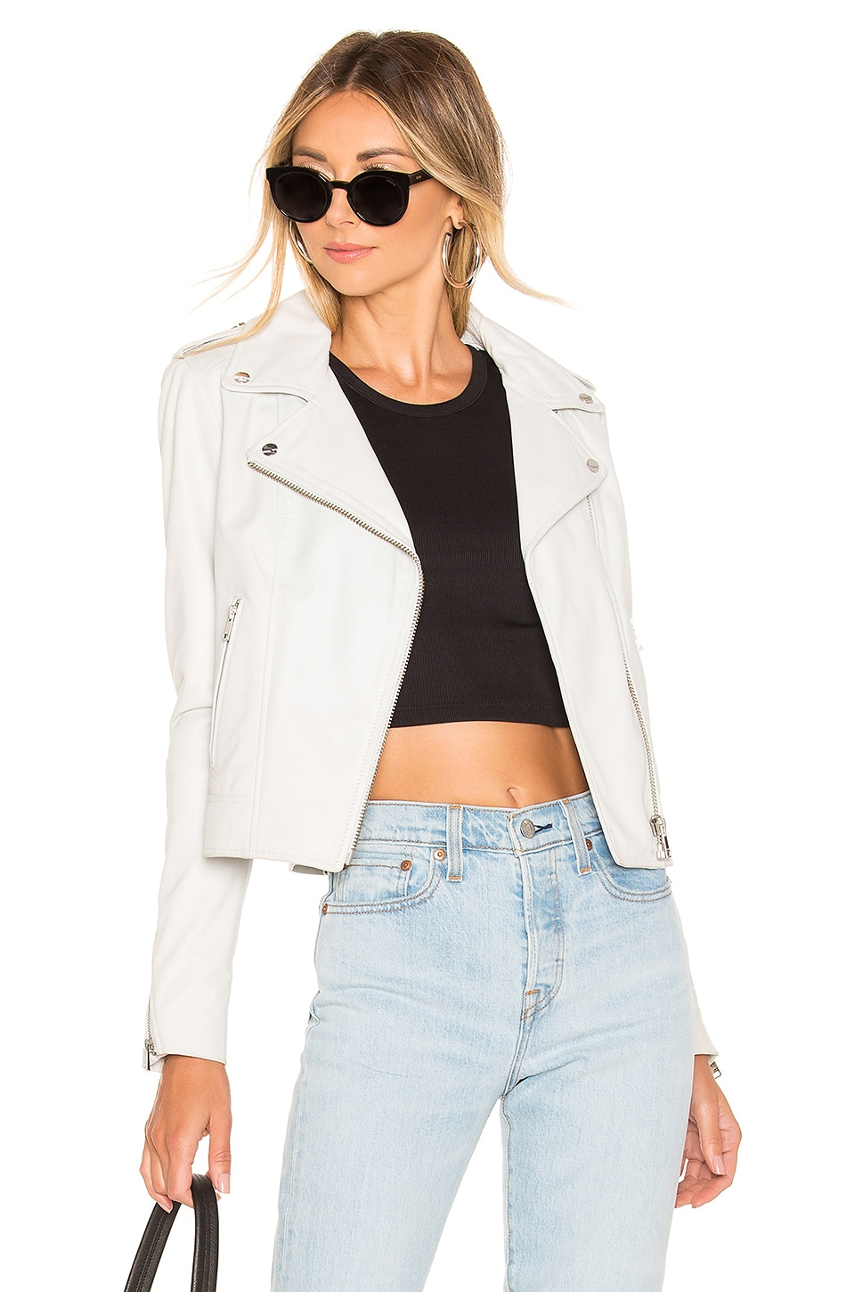 LAMARQUE Donna Leather Jacket in White
