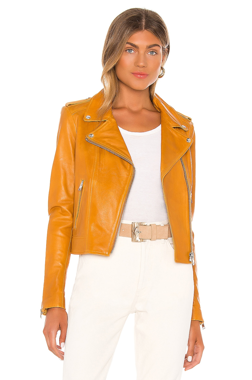 LAMARQUE Donna Moto Jacket in Honey